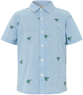 Monsoon Nixon Dinosaur Embroidered Short Sleeve Shirt