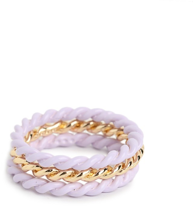 BaubleBar Lilac Twist Ring Trio