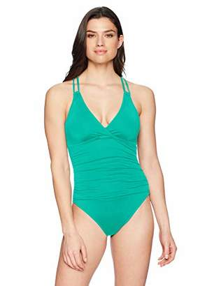 1db2d72e39 La Blanca Women's Island Goddess Underwire Double Strappy Back One Piece  Swimsuit