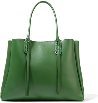 Lanvin - The Shopper Small Leather Tote - Green $1,550 thestylecure.com