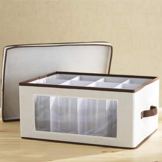 Wayfair Basics Canvas Stemware Storage Box