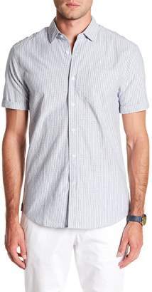 Report Collection Striped Short Sleeve Slim Fit Shirt