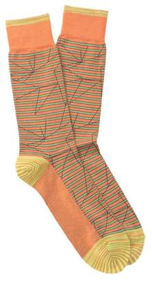Robert Graham Rhum Striped Crew Socks