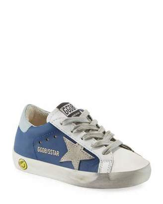 Golden Goose Superstar Leather & Suede Low-Top Sneakers, Baby/Toddler
