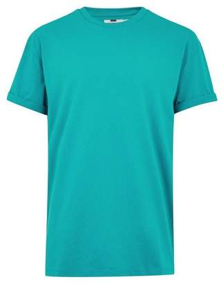 Topman Mens Green Oversized T-Shirt