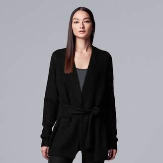 Vera Wang Women's Simply Vera Tie-Front Cardigan Sweater