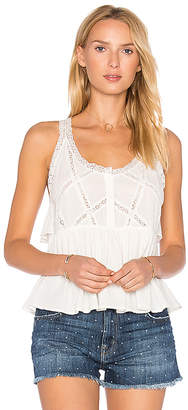 Current/Elliott The Lace Top in White $188 thestylecure.com