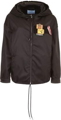 Prada Linea Rossa Nylon Gabardine Jacket With Patches