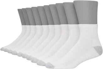 Hanes Men's Ultimate 10-pack Fresh IQ Quarter Socks