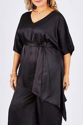 NEW Moonlight Bird Womens Blouses Yvette Blouse Black