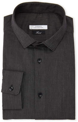Versace Black Beaded Stripe Trend Fit Dress Shirt