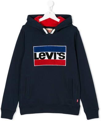 Levi's Kids brand patch hoodie