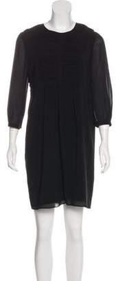Burberry Long Sleeve Silk Dress