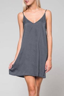 Honey Punch Grey Slip Dress $38 thestylecure.com