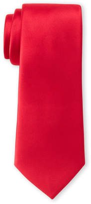 Pierre Cardin Red Satin Slim Tie