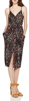 BCBGeneration Floral Paisley Twist-Front Dress