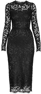 Dolce & Gabbana Women's Long-Sleeve Lace Dress
