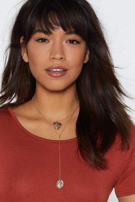 Nasty Gal Heart of Gold Medallion Necklace