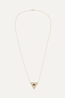 Lito Tu Es Partout 14-karat Gold, Enamel And Diamond Necklace - one size