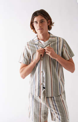 rhythm Vacation Stripe Short Sleeve Button Up Shirt