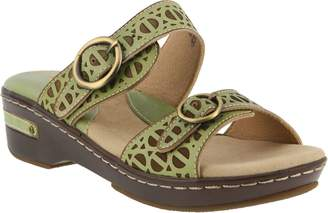 Spring Step L'Artiste by Leather Slide Sandals- Duobank