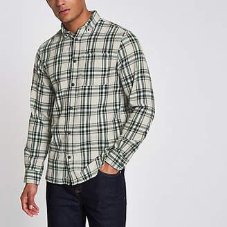 River Island Jack and Jones Original green check shirt