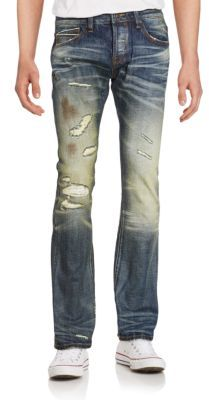 Cult Of IndividualityRebel Distressed Straight-Leg Jeans