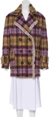 See by Chloe Patterned Double-Breasted Coat w/ Tags