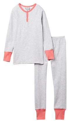 Coccoli Solid Pajama with Contrast Trim (Toddler, Little Kids, & Big Kids)
