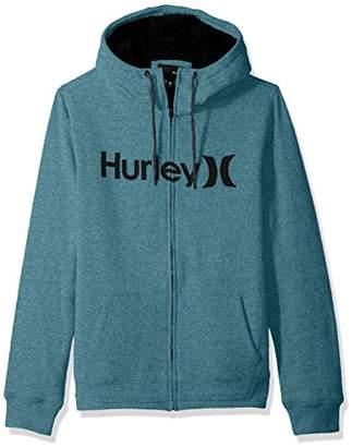 Hurley Men's Long Sleeve Sherpa Lined Zip up Hoodie