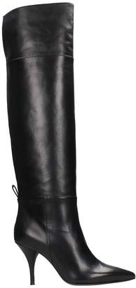 L'Autre Chose Black Calf Leather Boots