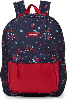 Levi's Girls) Navy Floral Backpack
