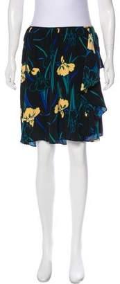 Tucker Silk Floral Skirt