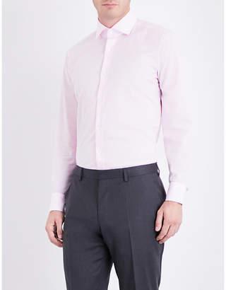 BOSS Gingham regular-fit cotton shirt