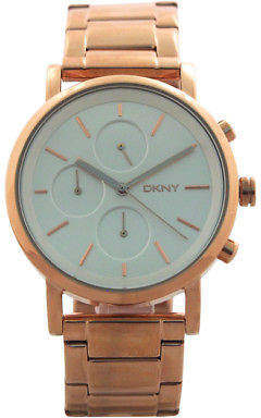 DKNY NY2275 Chronograph Soho Rose Gold Ion Plated Stainless Steel Bracelet Watch