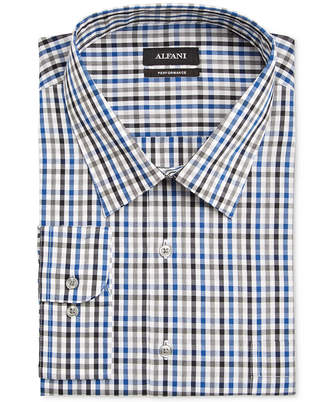 Alfani Men's Classic/Regular Fit Performance Stretch Easy Care Gingham Dress Shirt, Only at Macy's $52.50 thestylecure.com