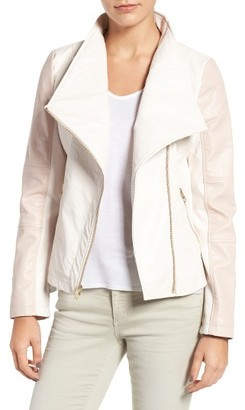 Women's Guess Asymmetrical Faux Leather Jacket $128 thestylecure.com