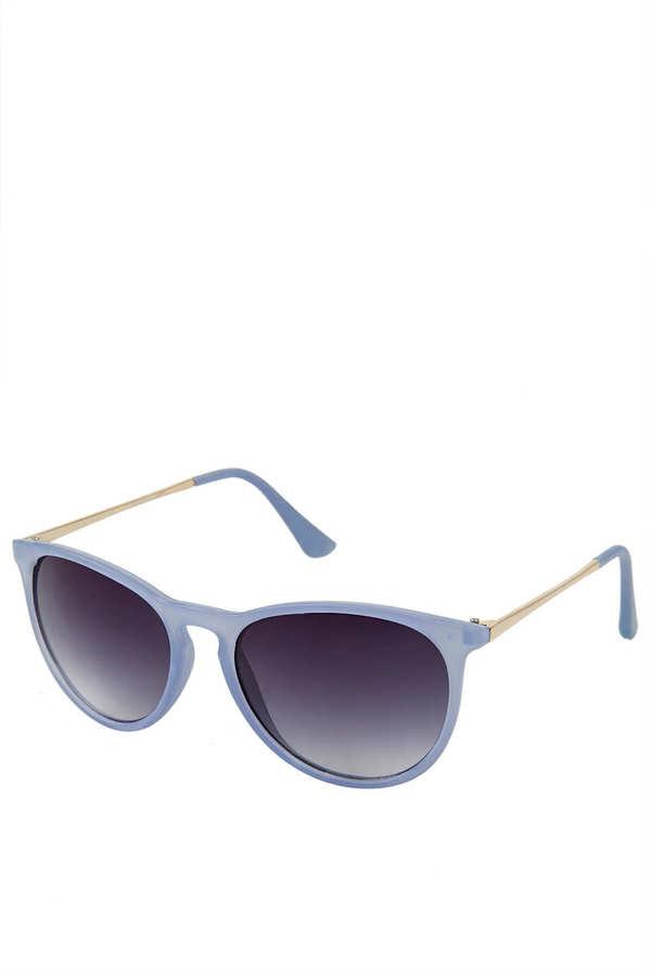 Topshop Rubber Preppy Sunglasses