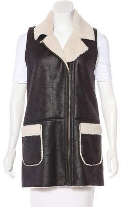 Barneys New York Barney's New York Faux Shearling Vest