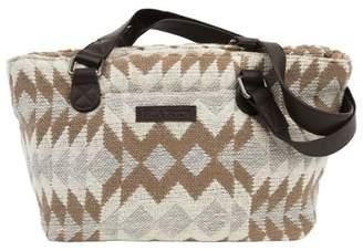Ashton & Willow Creme White Southwestern Handbags Romy Mini Tote Cotton Pewter Hardware Textured Geometric Tote