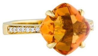 Frederic Sage 18K Citrine & Diamond Ring