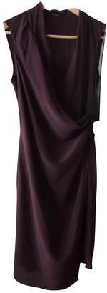 AllSaints Purple Silk Dress for Women