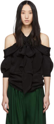 Erdem Black Silk Elin Blouse