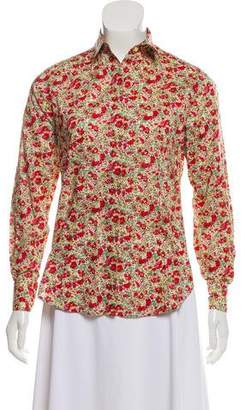 Liberty of London Designs Floral Printed Button-Up