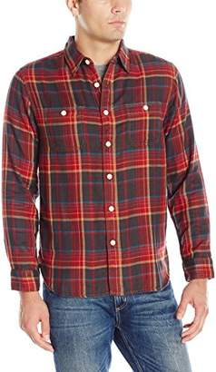 True Grit Men's Harley Double Light Plaids Freedom Two-Pocket Shirt