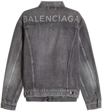Balenciaga Logo Back Denim Jacket