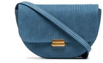 Wandler dusty blue corduroy belt bag