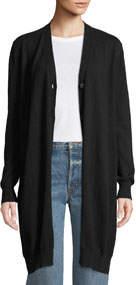 Cashmere Long Button-Down Cardigan