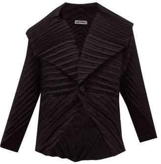 Issey Miyake Batwing Pleated Crepe Jacket - Womens - Black