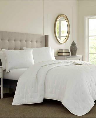 Laura Ashley Eva White Quilt Set, Twin Bedding